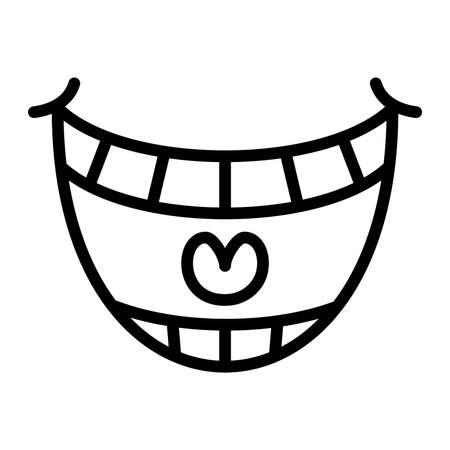 chuckle: Big Cartoon Smile Vector