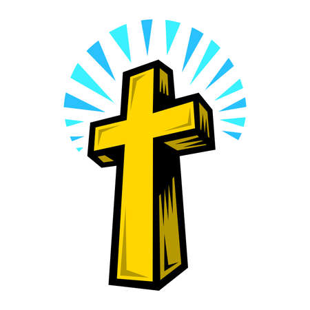 the christian religion: Christian Cross Illustration
