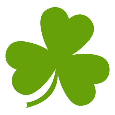 three leaf clover: Three leaf clover vector icon