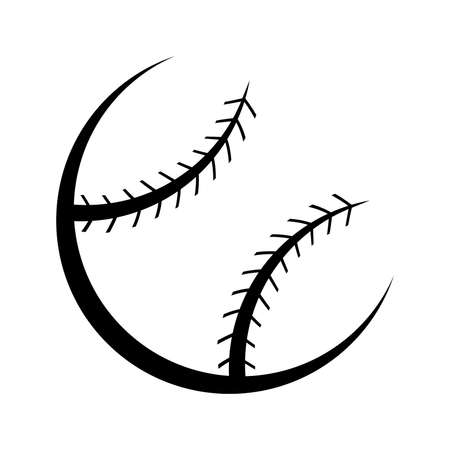 throwing ball: Baseball Vector Icon