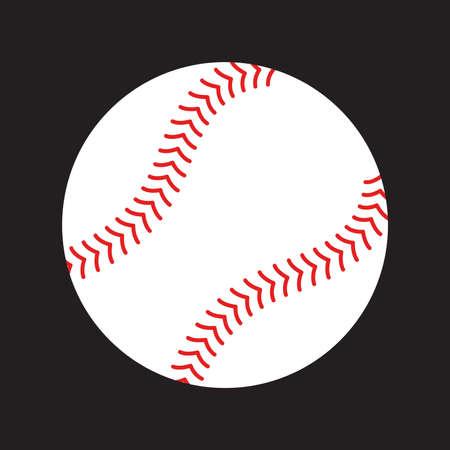 encaje: Béisbol del vector del icono