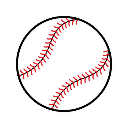 Baseball Vector Icon Standard-Bild - 48641087