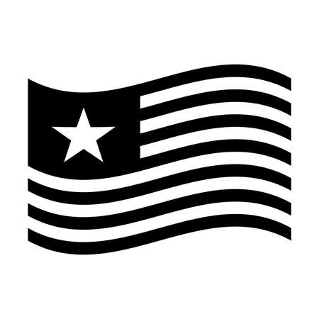 american flag: American flag vector icon