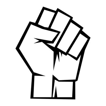 Raised fist vector icon Stok Fotoğraf - 48641089