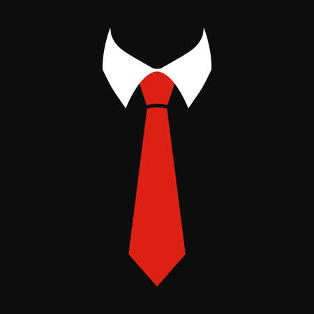 suit tie: Tie Vector Icon Illustration