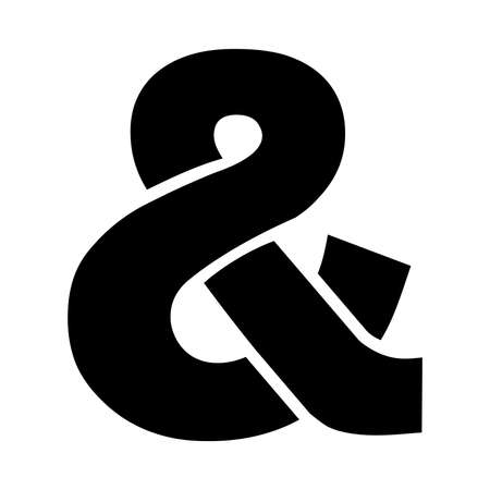 ampersand: Ampersand vector icon Illustration