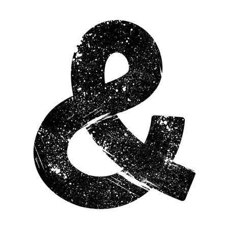 ligature: Ampersand vector icon Illustration