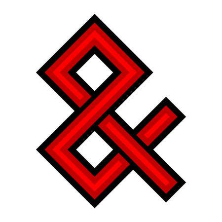 ligature: Ampersand vector icon Illustration