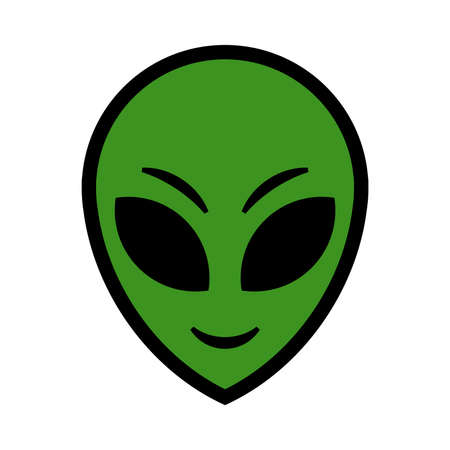 alien face: Alien vector illustration
