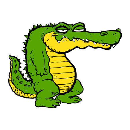 Alligator cartoon vector illustration
