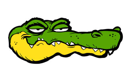 Alligator cartoon vector illustration