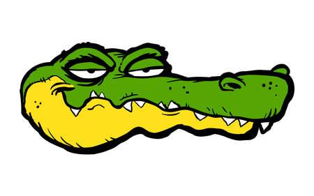 national parks: Alligator cartoon vector illustration