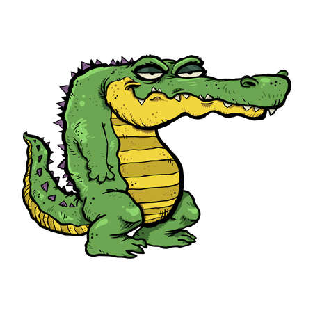 Alligator cartoon vector illustration Stok Fotoğraf - 49534141