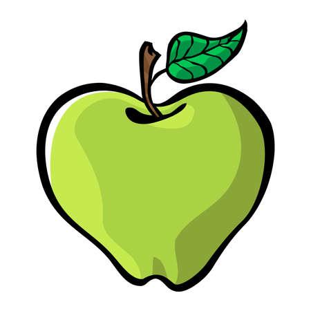 アップルの漫画のベクトルのアイコン