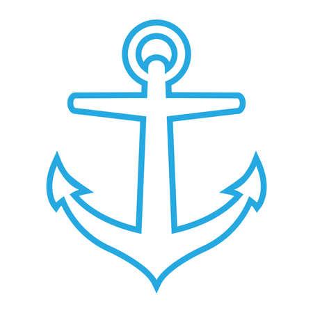 Vector illustration of a metal ship anchor