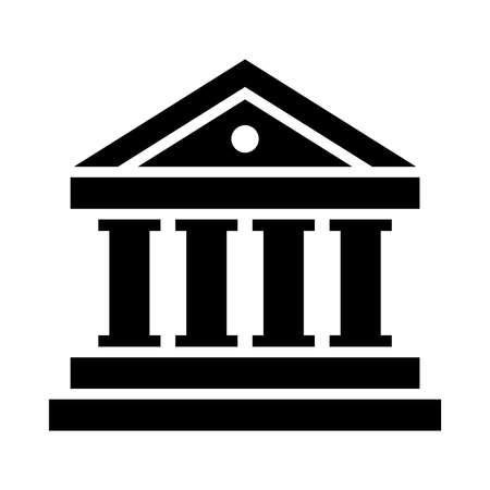 banco dinero: Banco del icono del vector Vectores