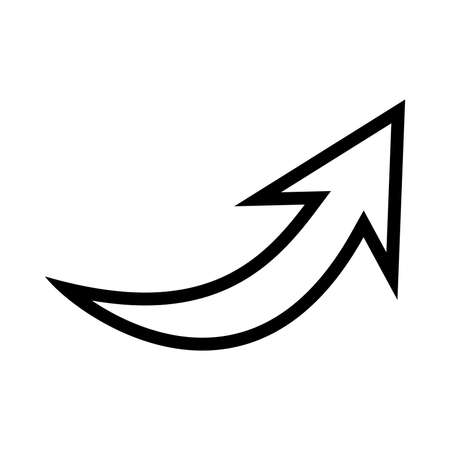upward movements: Arrow vector icon