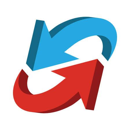 blue arrow: Arrow vector icon