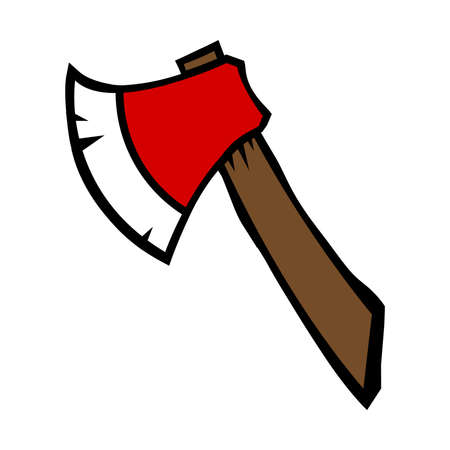 the ax: Ax cartoon vector icon