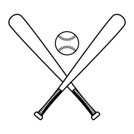 野球のバットのベクトルのアイコン  イラスト・ベクター素材