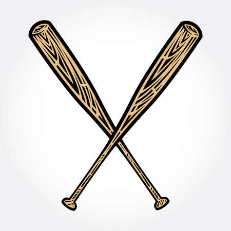 baseball pitcher: Baseball Bat Vector Icon