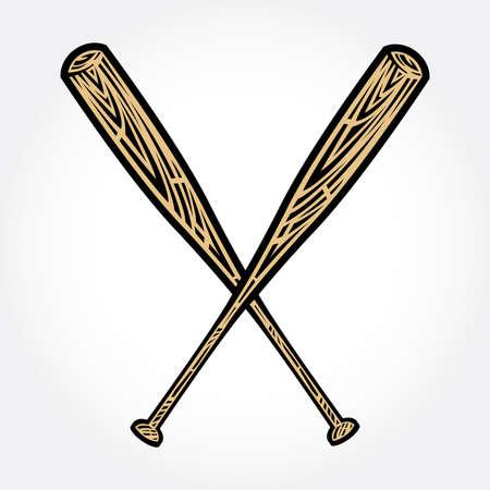 pelota de beisbol: Bate de b�isbol del vector del icono Vectores