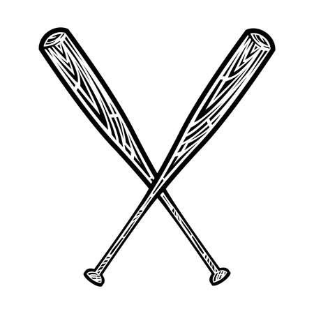 hitter: Baseball Bat Vector Icon