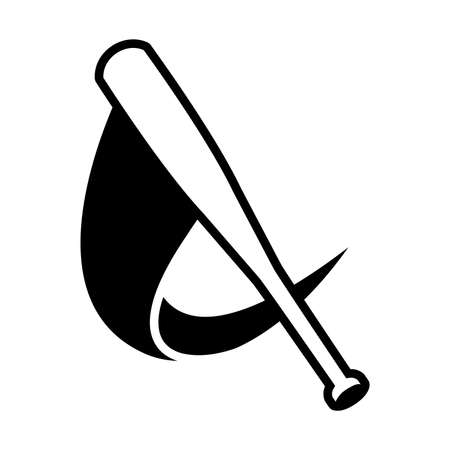 hitter: Baseball Bat Vector Icon