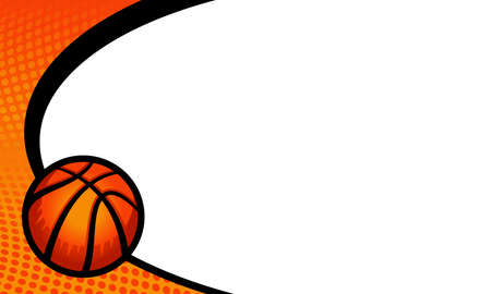 Vector basketball themed background
