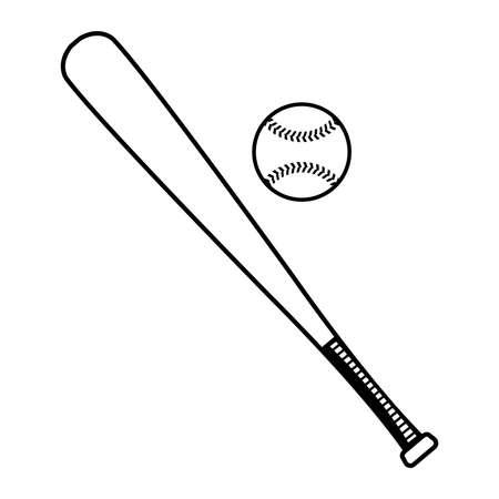 野球のバットで野球ベクトル図