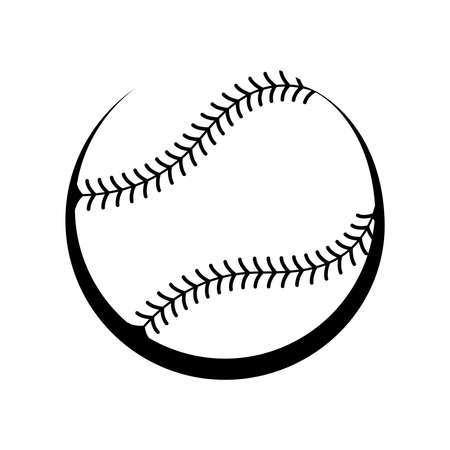 softball: Baseball Vector Icon