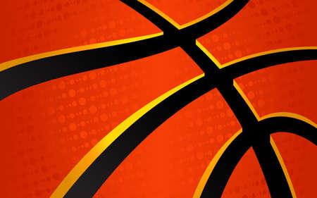 leather background: Vector basketball themed background