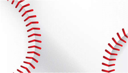 white background: Baseballs vector background Illustration
