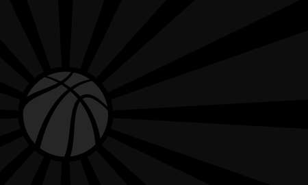 themed: Vector basketball themed background