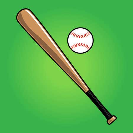 野球のバットのベクトル イラスト  イラスト・ベクター素材