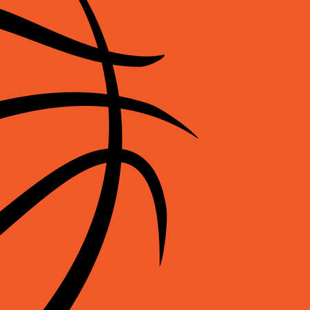 isolated on a white background: Vector basketball themed background