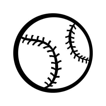 balones deportivos: Béisbol del vector del icono