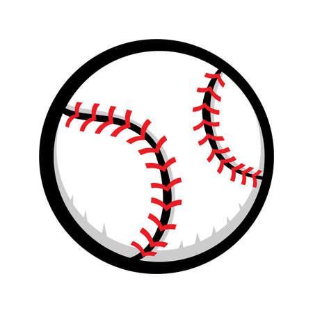 fastball: Baseball Vector Icon