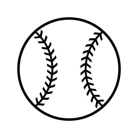 baseball: Béisbol del vector del icono