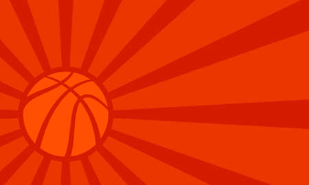 sport background: Vector basketball themed background