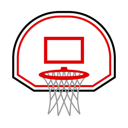 Basketball hoop vector icon illustration