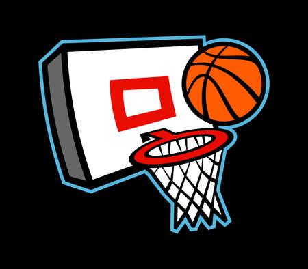 hoop: Basketball hoop vector icon illustration