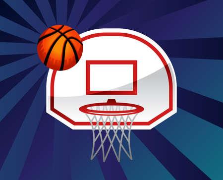 basketball shot: Basketball hoop vector icon illustration