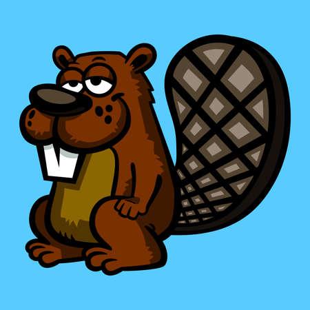 woodchuck: Vector illustration of a cartoon beaver Illustration