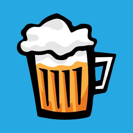 brewed: Beer Mug Vector Icon