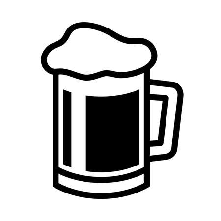 barley head: Beer Mug Vector Icon