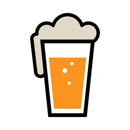 pint: Beer Pint Glass Vector Icon