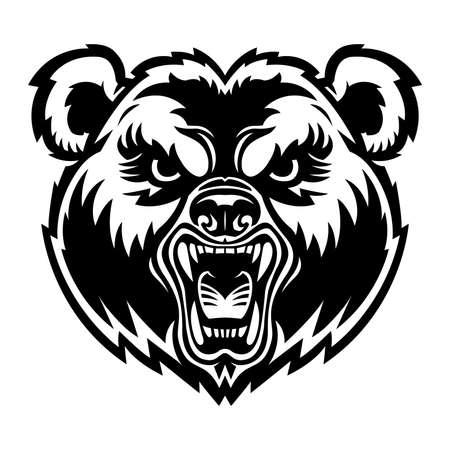 Bear Face Vettoriali