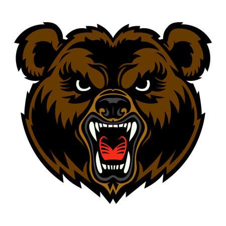 Bear Face Illustration