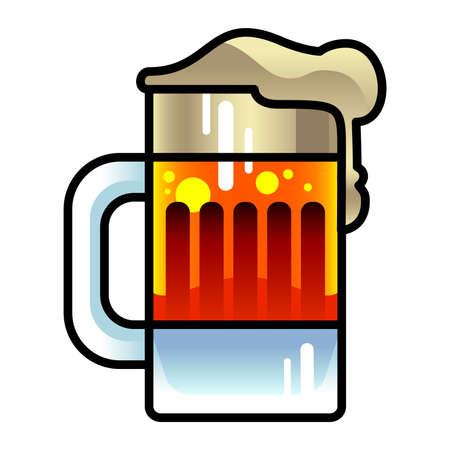 fresh brewed: Beer Mug Vector Icon